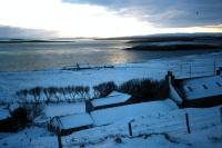 A snowy day at West Yell.