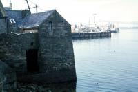 Many buildings in Lerwick are built right into the water.