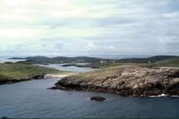 A panorama of the skerries from the lighthouse.